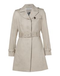 Kenneth Cole Natural Belted Single Breasted Trench Coat