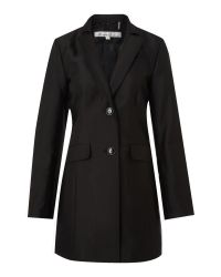 Kenneth Cole Black Double Breasted Trench Coat
