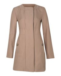 Kenneth Cole Natural Collarless Aline Jacket