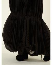 Label Lab Black Pleat Bubble Maxi Skirt