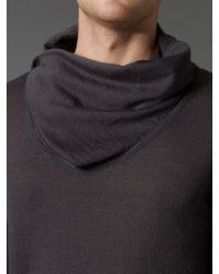 Label Lab Brown Dali Fold Cowl Neck Jumper for men