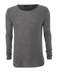 Label Lab Gray Arp Scoop Neck Jumper for men