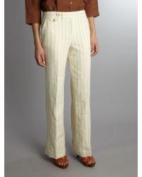 Lauren by Ralph Lauren Natural Stripe Straight Leg Trouser