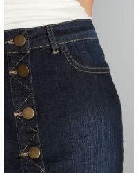Linea Weekend Blue Denim Button Through Skirt