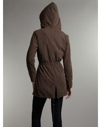 Linea Weekend Brown Spring Parka with Pocket Detail