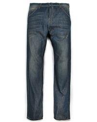 Mango Blue Longrise John Jeans for men