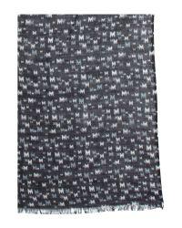 Mary Portas Black M Pattern Scarf