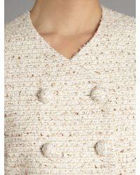 Max Mara Studio Natural Fazio Cropped Boucle Jacket