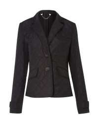 Weekend by Maxmara Black Cardiff Long Sleeve Quilted Blazer