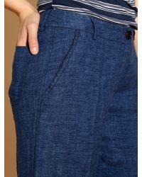 Weekend by Maxmara Blue Tilly Wide Leg Linen Trouser