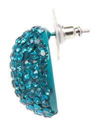 Mikey | Blue Heart Earring | Lyst