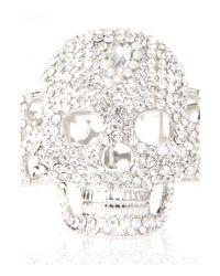 Mikey - Gray Crystal Skull Bracelet - Lyst