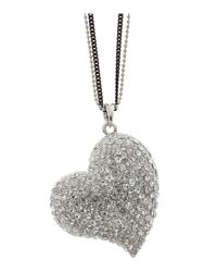 Mikey - White Heart Necklace - Lyst