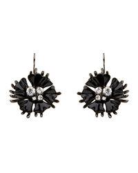 Mimco | Black Starlight Flower Drop Earrings | Lyst