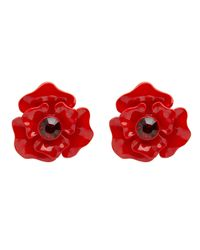 Mimco | Red Lost City Flower Stud Earrings | Lyst