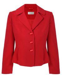 Minuet Petite Red Pleat Detail Jacket
