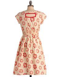 ModCloth | Beige Chance Of Sunshowers Dress | Lyst
