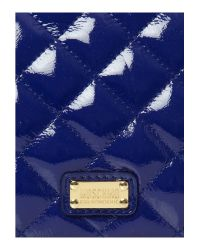 Boutique Moschino Blue Quilted Chain Bag