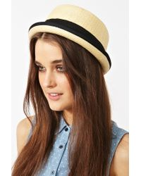 Nasty Gal   Natural Hampton Straw Hat   Lyst