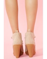 Nasty Gal - Brown Parker Wedge Boot - Lyst