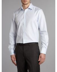 New & Lingwood Blue Formal Twill Shirt for men