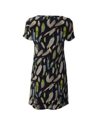 NW3 by Hobbs Black Floating Feather Dress