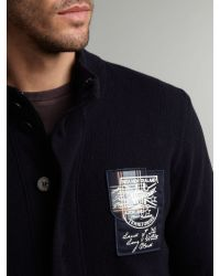 Nza Blue Full Zip Knitted Cardigan for men