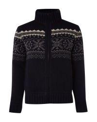 Nza Blue Nordic Full Zip Knit for men