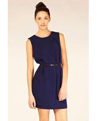 Oasis Blue Tulip Wrap Dress