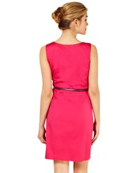 e0c99c1428bb Oasis Oasis Hannah Belted Dress Fuchsia in Pink - Lyst