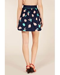 Oasis Multicolor Tulip Print 50s Skirt