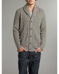 Polo Ralph Lauren | Gray Cable Knitted Cardigan for Men | Lyst
