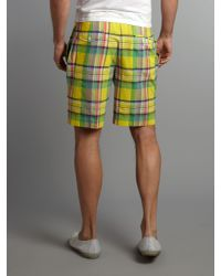 Polo Ralph Lauren Yellow Fozcraft Plaid Short for men