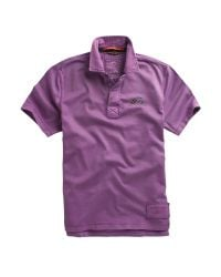 Racing Green Purple Shortsleeved Pigment Dyed Rugby Shirt for men