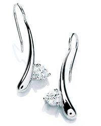 Rocio Illumini | Blue Modern Drop Earrings with Swarovski Zirconia | Lyst