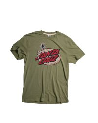 Santa Cruz Green Slimline Dot Tee Shirt for men