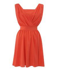Sodamix Orange Pippa Plain Dress