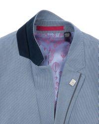 Ted Baker Blue Cotton Striped Jacket for men
