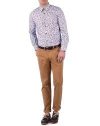 Ted Baker Purple Floral Cotton Shirt for men