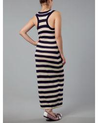 Tommy Hilfiger - Blue Ever Sleeveless Stripe Maxi Dress - Lyst