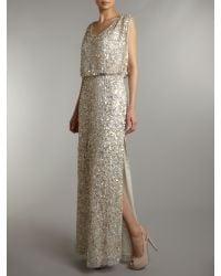 Untold | Beige Beaded Maxi Dress | Lyst
