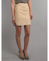 Vero Moda Very Natural Short Leather Skirt