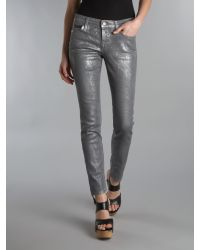 Vivienne Westwood Anglomania For Lee Gray Silver Jean with Turn Up