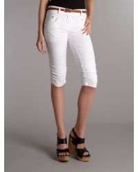 Wal-G White 34 Length Trousers