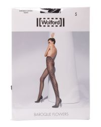 Wolford Black Baroque Flowers Tights