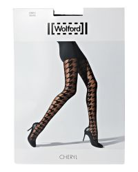 Wolford Black Cheryl Large Dogstooth Tights