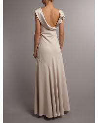 Anoushka G Natural Shira Low Back Dress