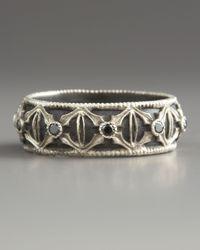 Armenta - Black Diamond Band Ring for Men - Lyst