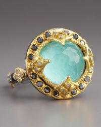 Armenta - Metallic Green Turquoise Black Diamond Ring - Lyst