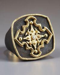 Armenta - Metallic Pointed Cross Ring for Men - Lyst